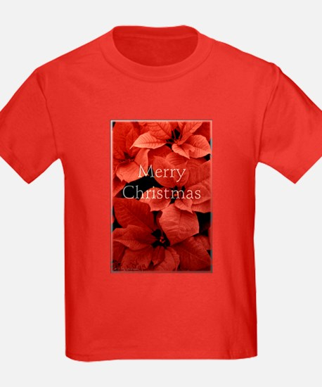 Merry Christmas with Pointsettias T-Shirt
