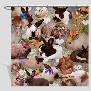Happy Bunnies Shower Curtain