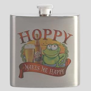 Hoppy Makes Me Happy Beach Frog Flask