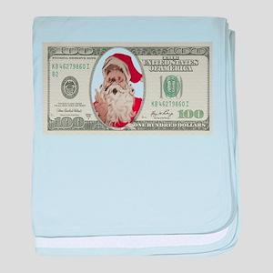 Santa 100 Dollars baby blanket