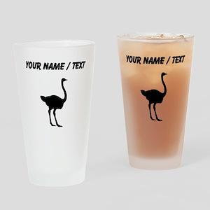 Ostrich Silhouette (Custom) Drinking Glass