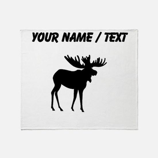 Moose Silhouette (Custom) Throw Blanket