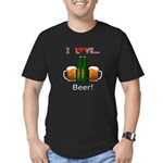 I Love Beer Men's Fitted T-Shirt (dark)