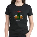 I Love Beer Women's Dark T-Shirt