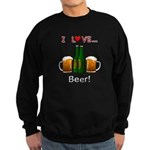 I Love Beer Sweatshirt (dark)
