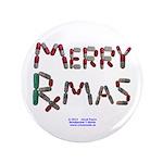 """Merry Rxmas Magnet 3.5"""" Button"""