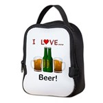 I Love Beer Neoprene Lunch Bag