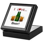 I Love Beer Keepsake Box
