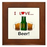 I Love Beer Framed Tile