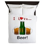 I Love Beer Queen Duvet