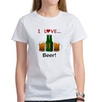 I Love Beer Women's T-Shirt