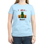 I Love Beer Women's Light T-Shirt