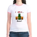 I Love Beer Jr. Ringer T-Shirt