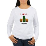 I Love Beer Women's Long Sleeve T-Shirt