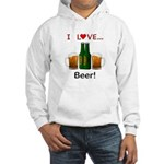 I Love Beer Hooded Sweatshirt