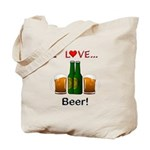 I Love Beer Tote Bag