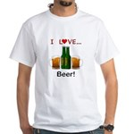 I Love Beer White T-Shirt