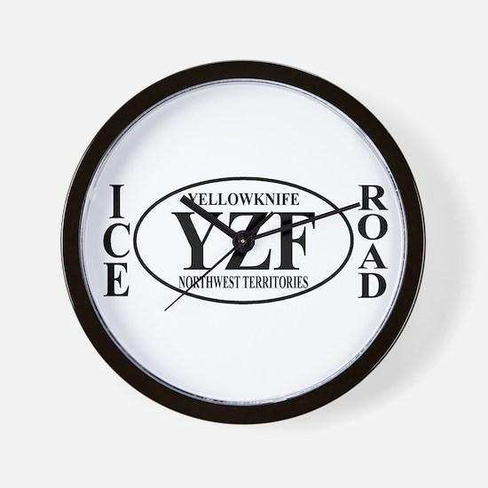 Yellowknife Ice Road Wall Clock