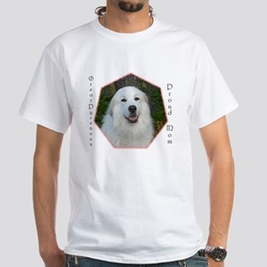Great Pyrenees White T-Shirt, Proud Mom