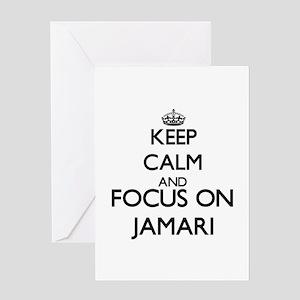 Keep Calm and Focus on Jamari Greeting Cards