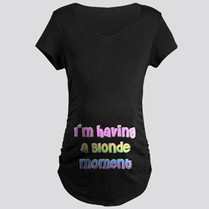 The Blonde AND Pregnant Maternity Dark T-Shirt