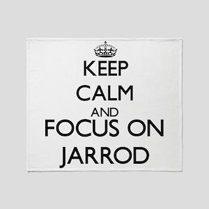 Keep Calm and Focus on Jarrod Throw Blanket