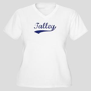 Talley - vintage (blue) Women's Plus Size V-Neck T