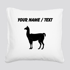 Llama Silhouette (Custom) Square Canvas Pillow