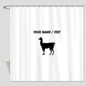 Llama Silhouette (Custom) Shower Curtain