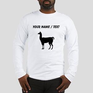 Llama Silhouette (Custom) Long Sleeve T-Shirt