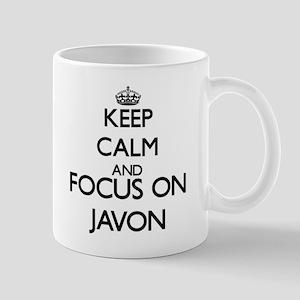 Keep Calm and Focus on Javon Mugs