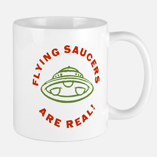 Flying Saucers Are Real Vintage Mugs