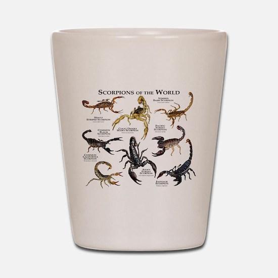 Scorpions of the World Shot Glass