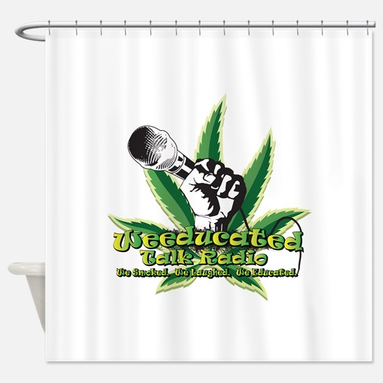 weeducated logo nobg Shower Curtain