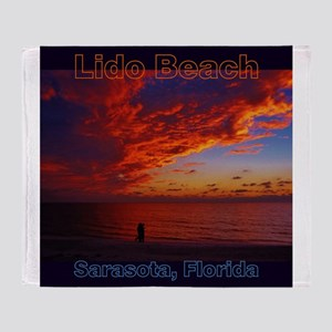 Lido Beach Florida Throw Blanket