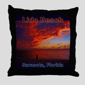 Lido Beach Florida Throw Pillow