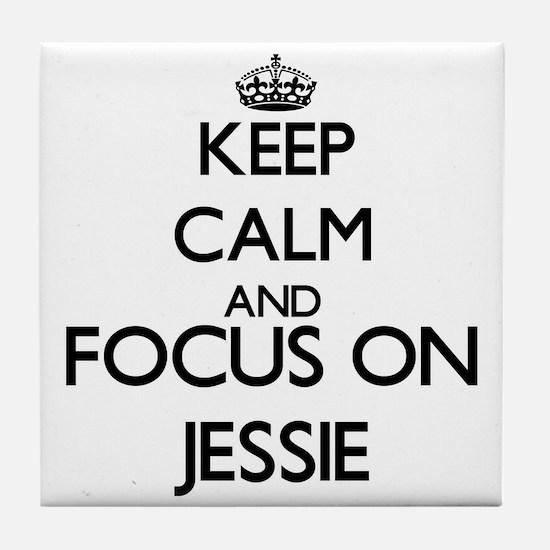 Keep Calm and Focus on Jessie Tile Coaster