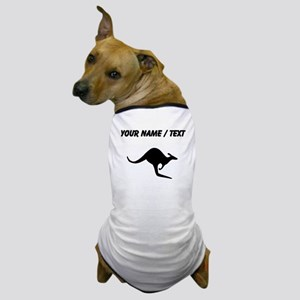 Kangaroo Silhouette (Custom) Dog T-Shirt