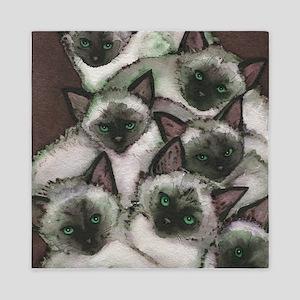 Siamese Kittens by Lori Alexander Queen Duvet
