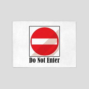 Do Not Enter 5'x7'Area Rug