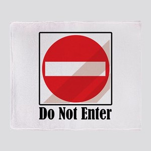 Do Not Enter Throw Blanket