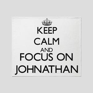 Keep Calm and Focus on Johnathan Throw Blanket