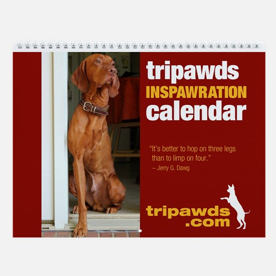 Tripawds Wall Calendar #10 - New For 2015