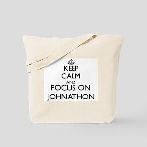Keep Calm and Focus on Johnathon Tote Bag