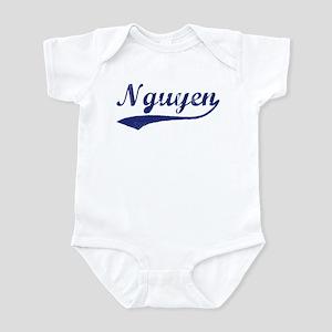 Nguyen - vintage (blue) Infant Bodysuit