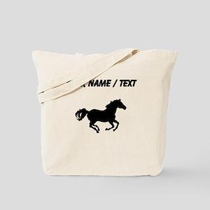 Horse Running Silhouette (Custom) Tote Bag