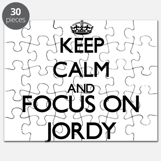 Keep Calm and Focus on Jordy Puzzle