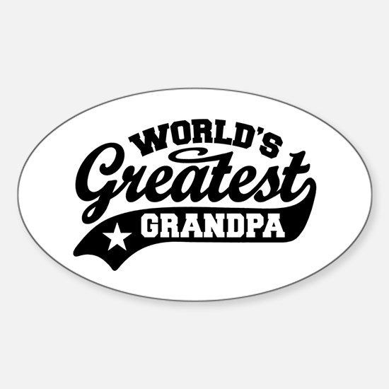 World's Greatest Grandpa Sticker (Oval)