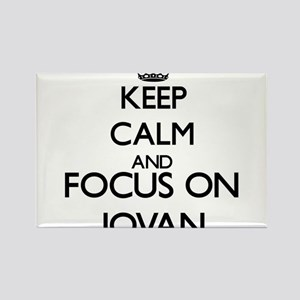 Keep Calm and Focus on Jovan Magnets