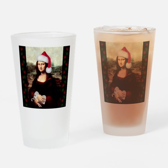 Funny Christmas funny Drinking Glass